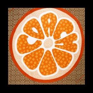 ✅FINAL PRICE DROP- Coach Orange Slice Print Scarf